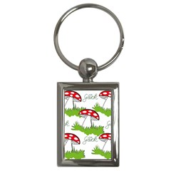 Mushroom Luck Fly Agaric Lucky Guy Key Chains (rectangle)  by Nexatart