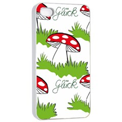 Mushroom Luck Fly Agaric Lucky Guy Apple Iphone 4/4s Seamless Case (white) by Nexatart