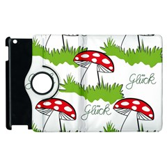 Mushroom Luck Fly Agaric Lucky Guy Apple Ipad 2 Flip 360 Case by Nexatart