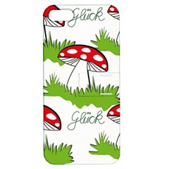 Mushroom Luck Fly Agaric Lucky Guy Apple Iphone 5 Hardshell Case With Stand by Nexatart