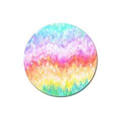 Rainbow Pontilism Background Magnet 3  (round) by Nexatart