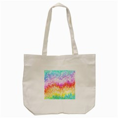 Rainbow Pontilism Background Tote Bag (cream) by Nexatart