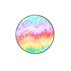 Rainbow Pontilism Background Hat Clip Ball Marker (4 Pack) by Nexatart