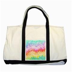 Rainbow Pontilism Background Two Tone Tote Bag by Nexatart