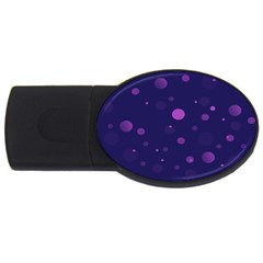Decorative Dots Pattern Usb Flash Drive Oval (2 Gb) by ValentinaDesign