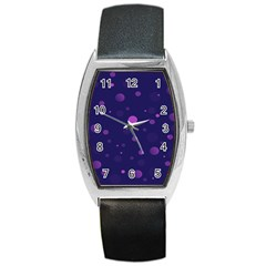 Decorative Dots Pattern Barrel Style Metal Watch by ValentinaDesign