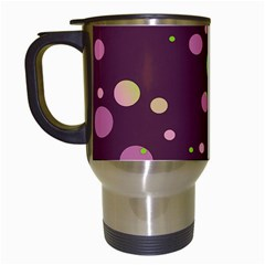 Decorative Dots Pattern Travel Mugs (white) by ValentinaDesign