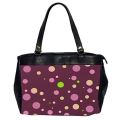 Decorative Dots Pattern Office Handbags (2 Sides)  by ValentinaDesign