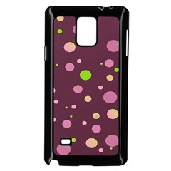 Decorative Dots Pattern Samsung Galaxy Note 4 Case (black) by ValentinaDesign