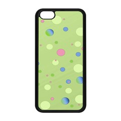 Decorative Dots Pattern Apple Iphone 5c Seamless Case (black) by ValentinaDesign