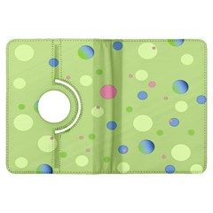 Decorative Dots Pattern Kindle Fire Hdx Flip 360 Case by ValentinaDesign