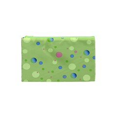 Decorative Dots Pattern Cosmetic Bag (xs) by ValentinaDesign
