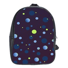Decorative Dots Pattern School Bags (xl)  by ValentinaDesign