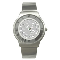 Decorative Dots Pattern Stainless Steel Watch by ValentinaDesign