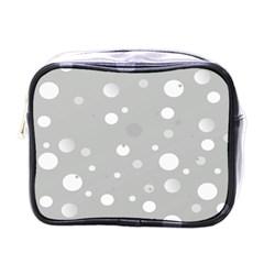 Decorative Dots Pattern Mini Toiletries Bags by ValentinaDesign