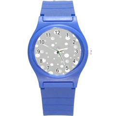 Decorative Dots Pattern Round Plastic Sport Watch (s) by ValentinaDesign