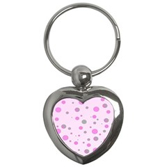 Decorative Dots Pattern Key Chains (heart)  by ValentinaDesign