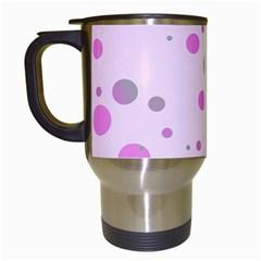 Decorative Dots Pattern Travel Mugs (white) by ValentinaDesign