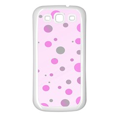 Decorative Dots Pattern Samsung Galaxy S3 Back Case (white) by ValentinaDesign