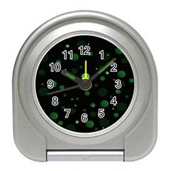 Decorative Dots Pattern Travel Alarm Clocks by ValentinaDesign