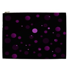 Decorative Dots Pattern Cosmetic Bag (xxl)  by ValentinaDesign