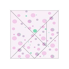 Decorative Dots Pattern Acrylic Tangram Puzzle (4  X 4 ) by ValentinaDesign
