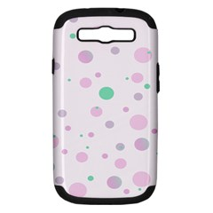 Decorative Dots Pattern Samsung Galaxy S Iii Hardshell Case (pc+silicone) by ValentinaDesign