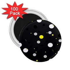 Decorative Dots Pattern 2 25  Magnets (100 Pack)  by ValentinaDesign