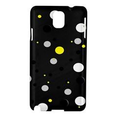 Decorative Dots Pattern Samsung Galaxy Note 3 N9005 Hardshell Case by ValentinaDesign