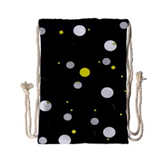 Decorative Dots Pattern Drawstring Bag (small) by ValentinaDesign