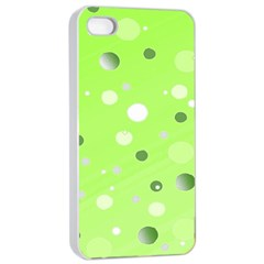 Decorative Dots Pattern Apple Iphone 4/4s Seamless Case (white) by ValentinaDesign