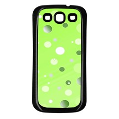 Decorative Dots Pattern Samsung Galaxy S3 Back Case (black) by ValentinaDesign