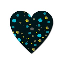 Decorative Dots Pattern Heart Magnet by ValentinaDesign
