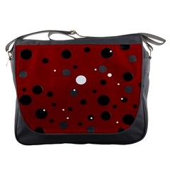 Decorative Dots Pattern Messenger Bags by ValentinaDesign