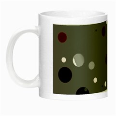 Decorative Dots Pattern Night Luminous Mugs by ValentinaDesign