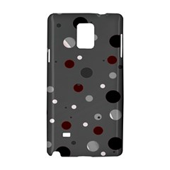 Decorative dots pattern Samsung Galaxy Note 4 Hardshell Case by ValentinaDesign