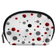 Decorative Dots Pattern Accessory Pouches (large)  by ValentinaDesign