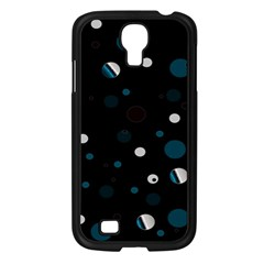 Decorative Dots Pattern Samsung Galaxy S4 I9500/ I9505 Case (black) by ValentinaDesign