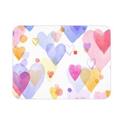 Watercolor Cute Hearts Background Double Sided Flano Blanket (mini)  by TastefulDesigns