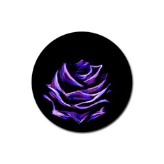 Rose Flower Design Nature Blossom Rubber Coaster (round)  by Nexatart