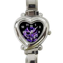 Rose Flower Design Nature Blossom Heart Italian Charm Watch by Nexatart