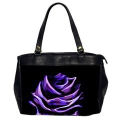 Rose Flower Design Nature Blossom Office Handbags (2 Sides)  by Nexatart