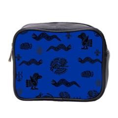 Aztecs Pattern Mini Toiletries Bag 2 Side by ValentinaDesign