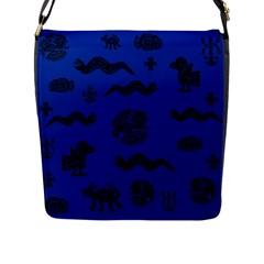 Aztecs Pattern Flap Messenger Bag (l)  by ValentinaDesign