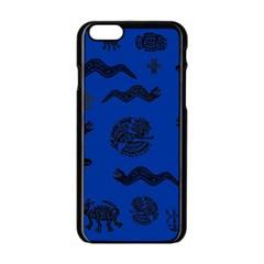 Aztecs Pattern Apple Iphone 6/6s Black Enamel Case by ValentinaDesign