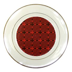 Abstract Background Red Black Porcelain Plates by Nexatart