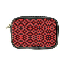 Abstract Background Red Black Coin Purse by Nexatart
