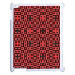 Abstract Background Red Black Apple Ipad 2 Case (white) by Nexatart