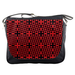 Abstract Background Red Black Messenger Bags