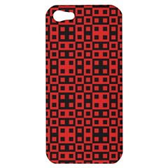 Abstract Background Red Black Apple Iphone 5 Hardshell Case by Nexatart